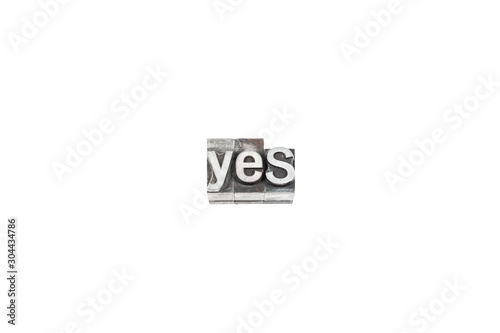 Fototapeta movable type yes text