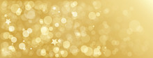 Wide Gold Bokeh Light Vector B...