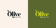 olive and co typography logo design template vector