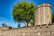 Tower Of London Exterior View, London