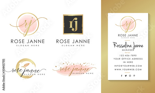 Fotomural Feminine logo collections template vector