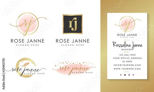 Obraz Feminine logo collections template vector - fototapety do salonu