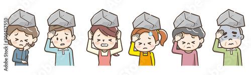 Fototapeta  頭痛 岩 セット