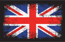 United Kingdom Flag In Grunge Style Vector