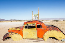 Old Car Abandoned In Solitaire, Namibia, Africa