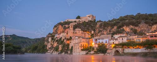 Sunrise at Miravet, Mediterranean town, Tarragona. Spain