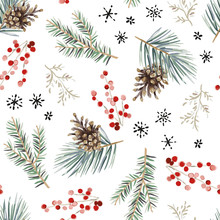 Christmas Seamless Pattern, Wh...