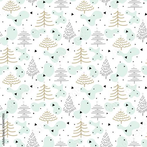 zimowe-swieta-lasu-wzor-wzor-zimowe-wakacje-tlo