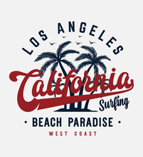 California Beach Typography Sl...