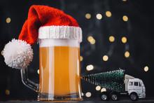 Christmas Beer Ale Mug In Sant...