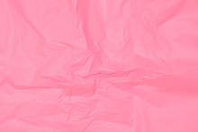 Crumpled Pink Paper Texture, P...