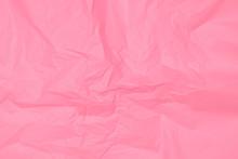 Crumpled Pink Paper Texture, Pink Background, Wallpaper