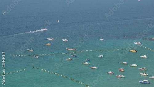 Vászonkép  Top view of Koh Larn island peaceful and popular tourist destination