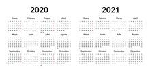 Spanish Calendar 2020 2021 Des...