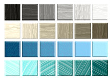 Set Of Different Mosaic Marble Smalt