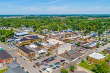 Small Town Indiana Aerial View...