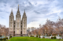 The Salt Lake Temple In Salt Lake City, Utah