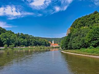 Fototapeta na wymiar Kloster Weltenburg, Oberbayern, Bayern, Deutschland