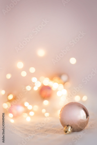 background for Christmas cards in light pink colors Fototapet