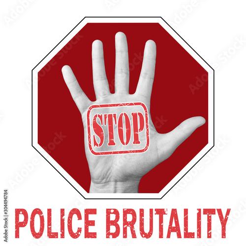Obraz na plátne  Stop police brutality conceptual illustration