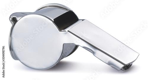 Chrome polished referees whistle image Canvas-taulu