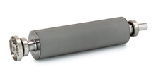 Anilox Also Called A Raster Cylinder Isolated On White Background With Shadow Reflection - Clipping Path. This Ceramic Coated Roller Is At The Heart Of The Flexographic Printing Process.