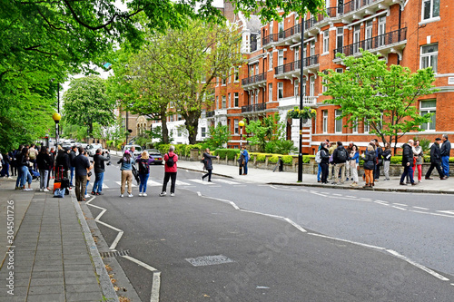 London; Westminster, England - may 6 2019 : Abbey Road Wallpaper Mural