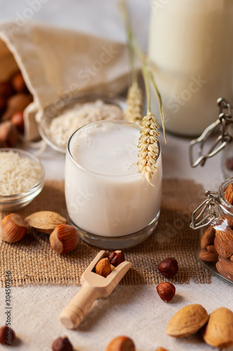 Fresh organic vegan milk Canvas Print