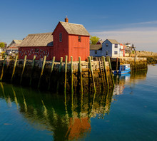 Golden Light On Rockport Harbor