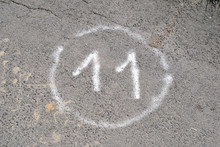 Circled Number Eleven Spray Pa...