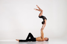 Duo Of Acrobats Showing Hand T...