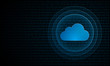 Digital cloud computing with ripples ''Pulse Effect'' technology symbol