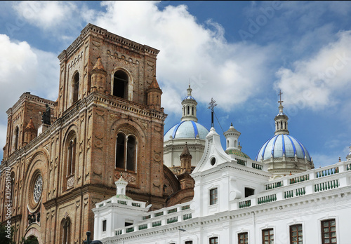 The New Cathedral church in Cuenca Ecuador