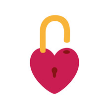 Isolated Heart Padlock Vector ...