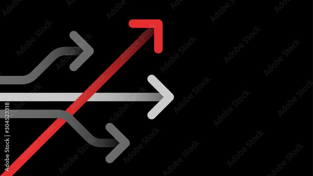 Fototapeta Think different business concept arrow icon