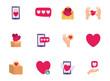 Isolated love icon set vector design