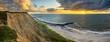 canvas print picture Sonnenuntergang an der Nordsee, Dänemark