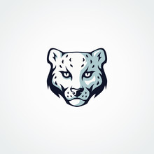 Snow Leopard Mascot Logo Desig...