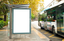 White Blank Vertical Billboard...