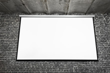 Image Of White Projector Scree...