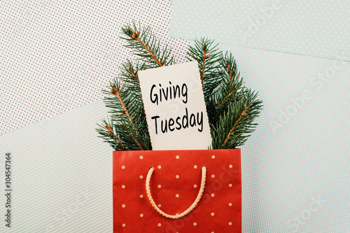 Cuadros en Lienzo  Giving Tuesday concept