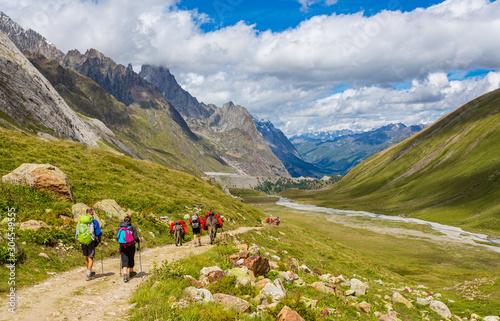 Fotografiet Randonneurs en montagne