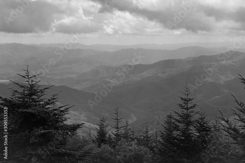 Photo Monochrome View of Great Smoky Mountains