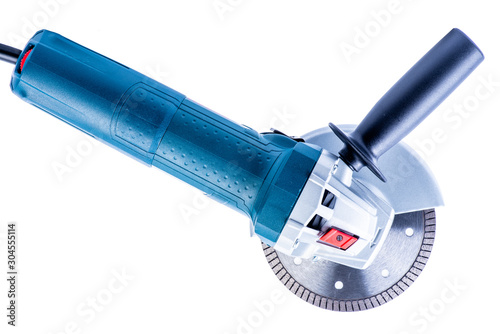 Electric angle grinder isolated on white background Fototapet