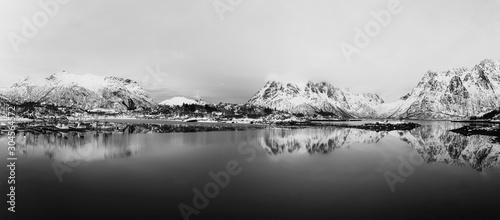 Fotografie, Obraz Winter Norway lake