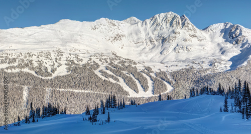 Photo Seventh Heaven  on Blackcomb Mountain view from Whistler in Winter