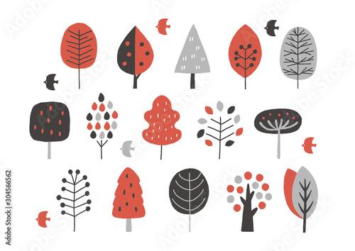 drzewa-w-stylu-skandynawskim-rozne-wzory-czerwony-czarny