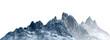 Leinwandbild Motiv Snowy mountains Isolate on white background 3d illustration