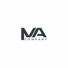 Letter MA Modern Company Logo Design Vector Template