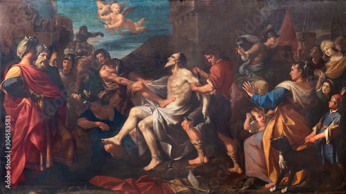 MODENA, ITALY - APRIL 14, 2018: The painting of Martyrdom of St Canvas Print